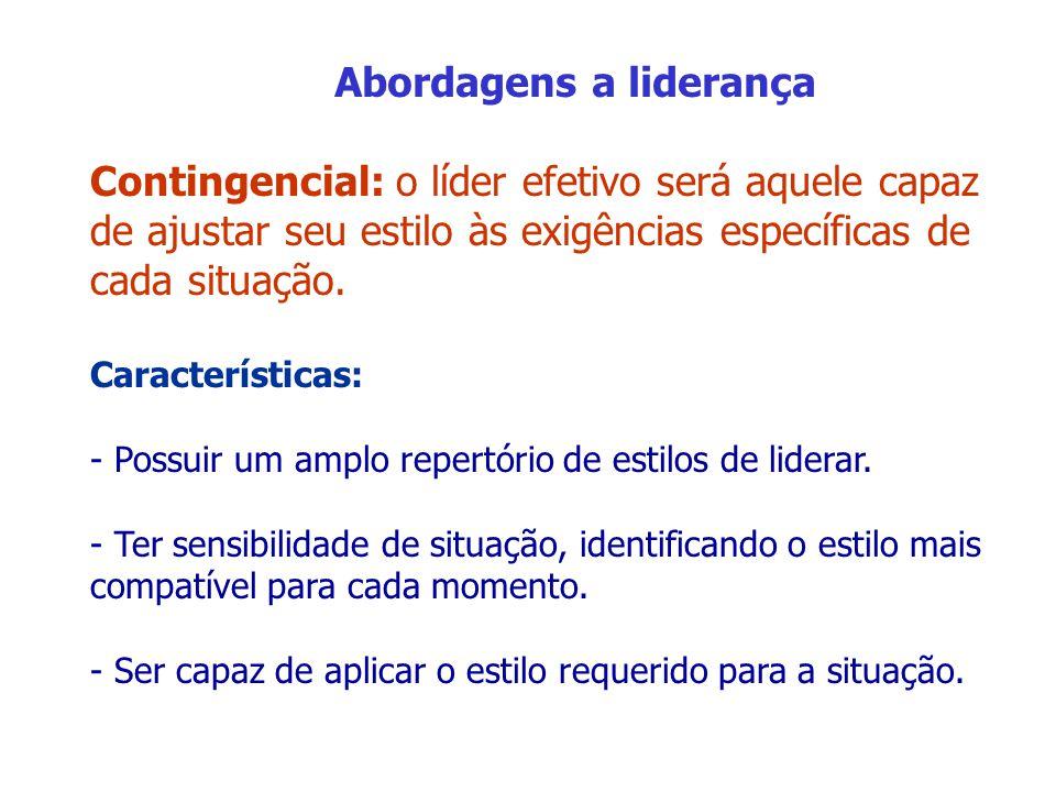 Liderança carismática e transformacional Carismático: sedução, originalidade, magnetismo pessoal, confiança e identificação.