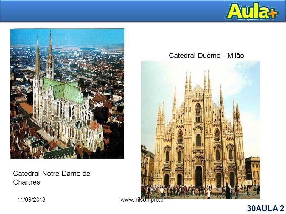 Catedral Notre Dame de Chartres Catedral Duomo - Milão 11/09/2013www.nilson.pro.br 30AULA 2