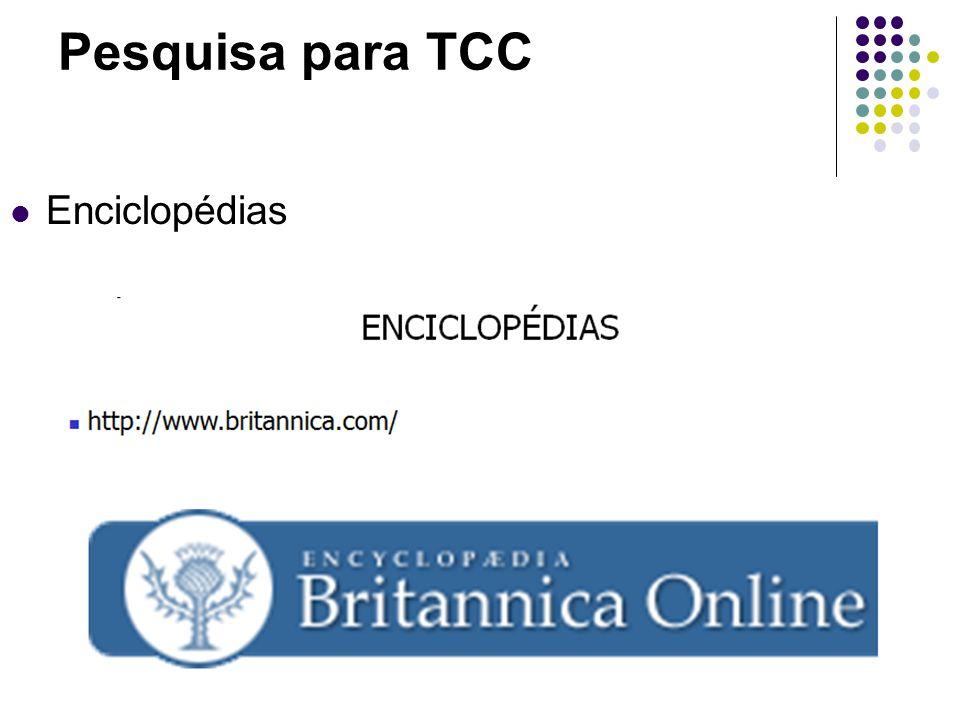 Pesquisa para TCC Enciclopédias