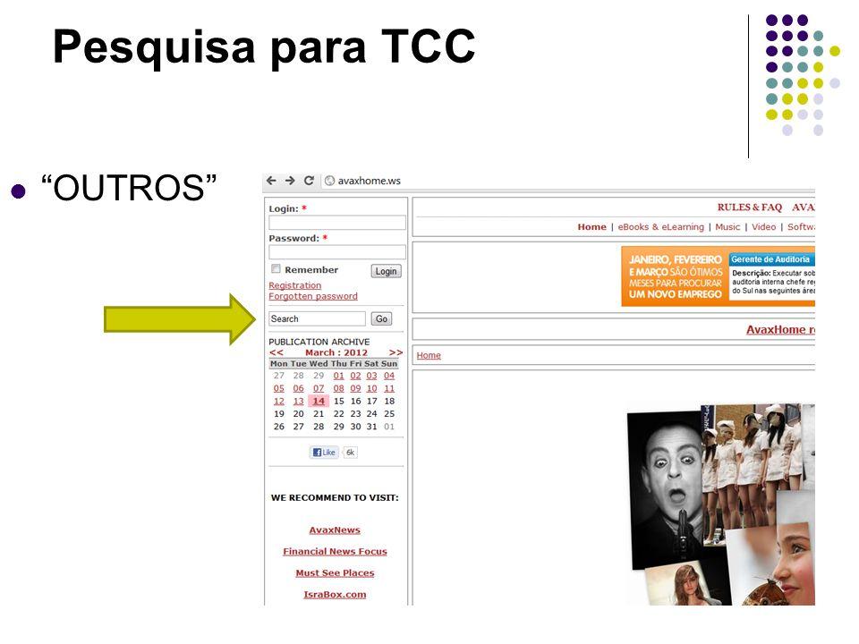 Pesquisa para TCC OUTROS