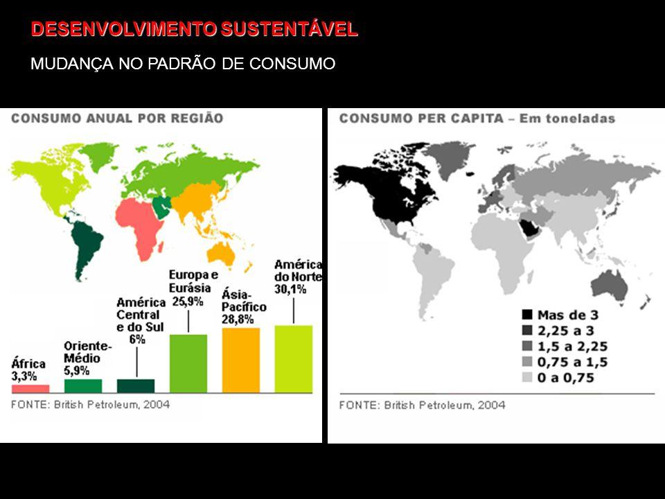 DESENVOLVIMENTO SUSTENTÁVEL MUDANÇA NO PADRÃO DE CONSUMO