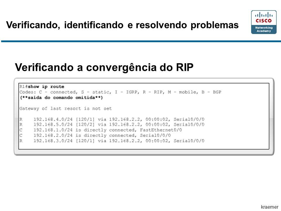 kraemer Verificando, identificando e resolvendo problemas Verificando a convergência do RIP