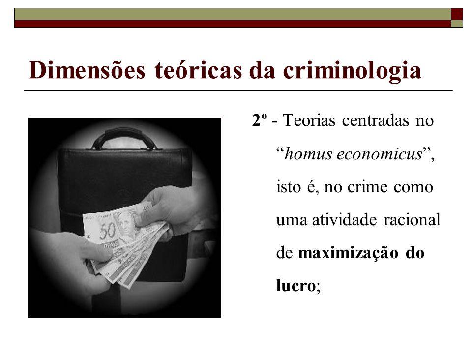 Dimensões teóricas da criminologia 3º - Teorias que consideram o crime como subproduto de um sistema social perverso ou deficiente
