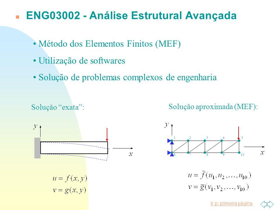 Ir p/ primeira página n ENG03353 - Medições Mecânicas Extensometria: Medição de grandezas físicas (deslocamento, pressão, torque, deformação, tensão, voltagem, amperagem etc.) e transdutores correlatos.