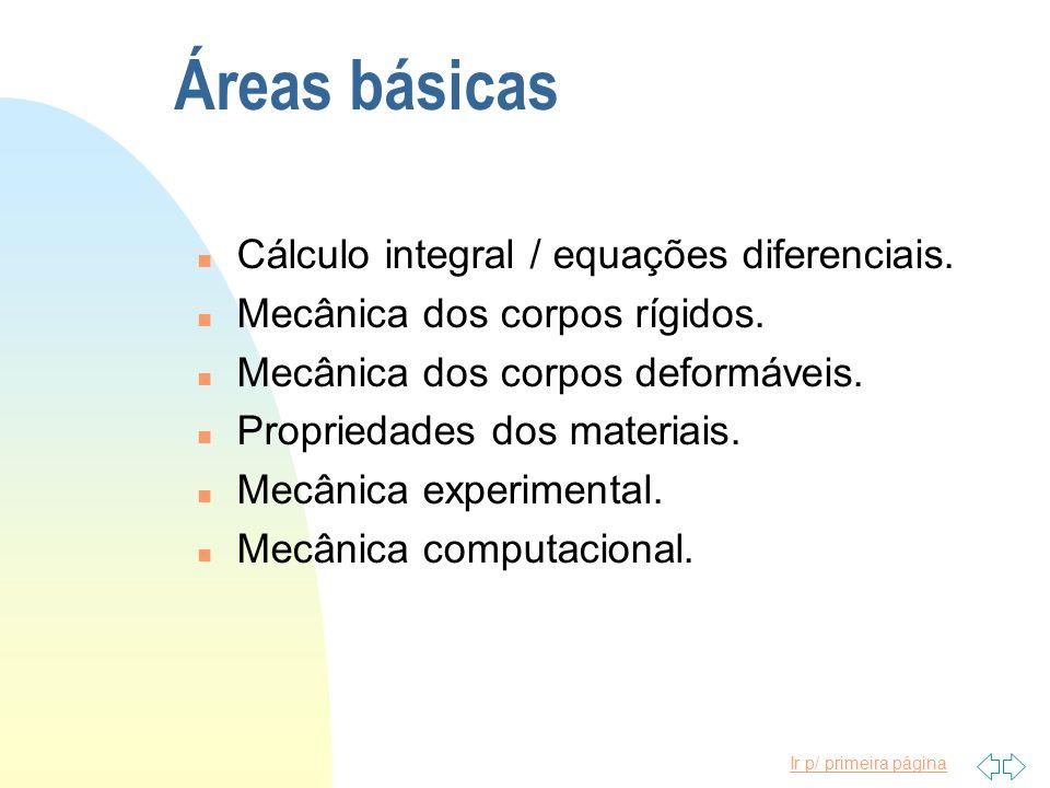Ir p/ primeira página Áreas básicas n Cálculo integral / equações diferenciais.