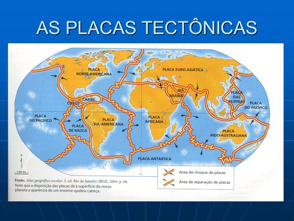 AS PLACAS TECTÔNICAS