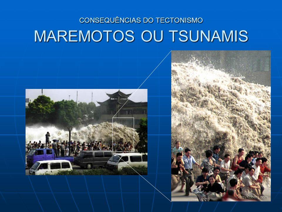 CONSEQUÊNCIAS DO TECTONISMO MAREMOTOS OU TSUNAMIS