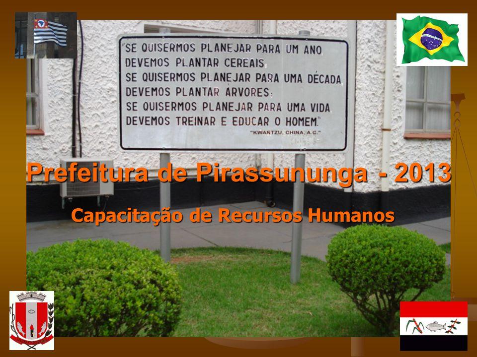 Prefeitura de Pirassununga - 2013 Capacitação de Recursos Humanos