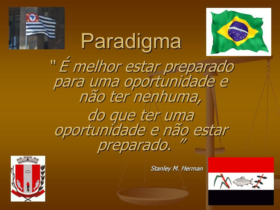 Paradigma É melhor estar preparado para uma oportunidade e não ter nenhuma, É melhor estar preparado para uma oportunidade e não ter nenhuma, do que t