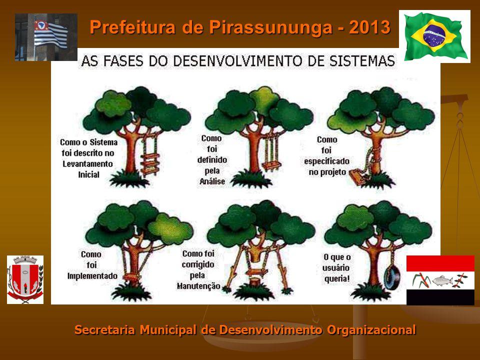 Prefeitura de Pirassununga - 2013 Secretaria Municipal de Desenvolvimento Organizacional