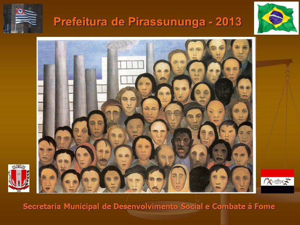 Prefeitura de Pirassununga - 2013 Secretaria Municipal de Desenvolvimento Social e Combate à Fome
