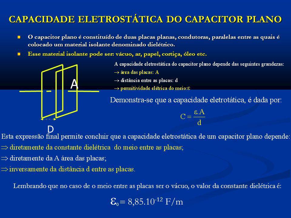 ASSOCIAÇÃO DE CAPACITORES ASSOCIAÇÃO EM SÉRIE Dois ou mais capacitores estarão associados em série quando entre eles não houver nó, ficando, dessa forma, a armadura negativa de um ligada diretamente à armadura positiva do outro.