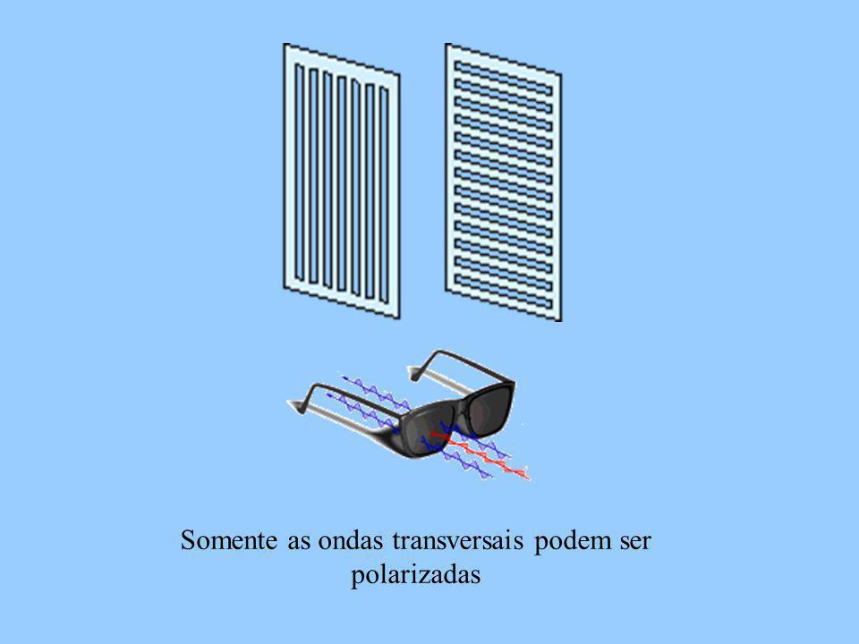 Somente as ondas transversais podem ser polarizadas