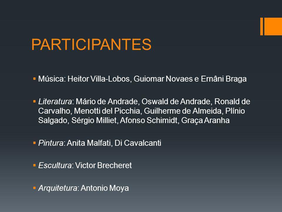 Alguns dos organizadores e participantes da Semana de Arte Moderna