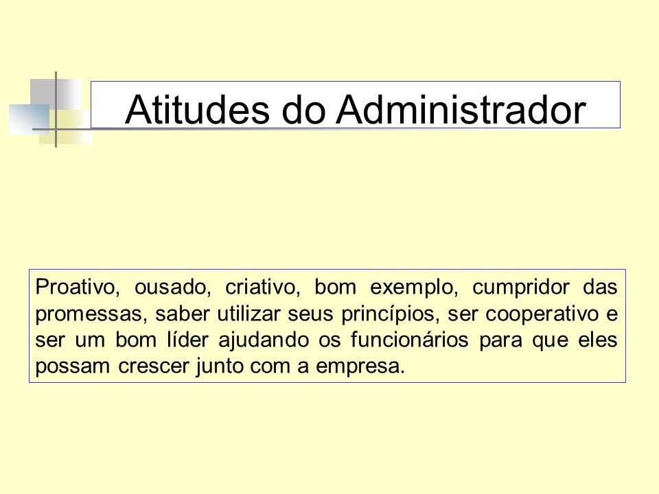 Principais Funções do Administrador Fixar objetivos (planejar) Analisar: conhecer os problemas.