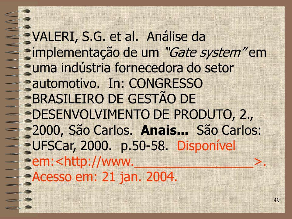 40 VALERI, S.G.et al.