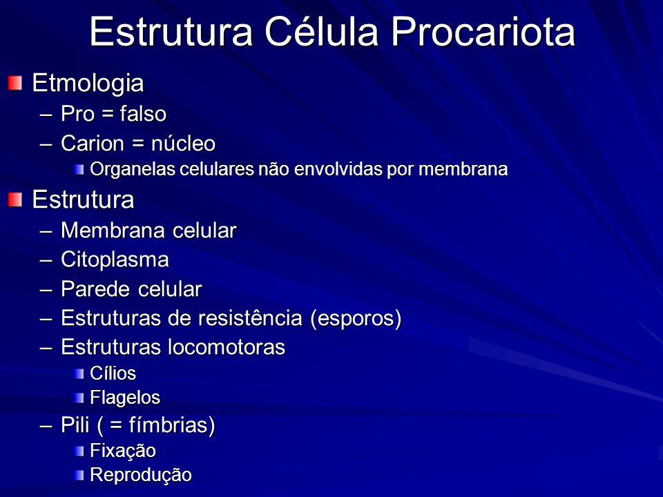 BactériasClassificação –Quanto à necessidade de O 2 Aeróbia obrigatória Microaerófila (5% O 2 ) Anaeróbia –Obrigatória –Facultativa –Quanto à motilidade MóvelImóvel
