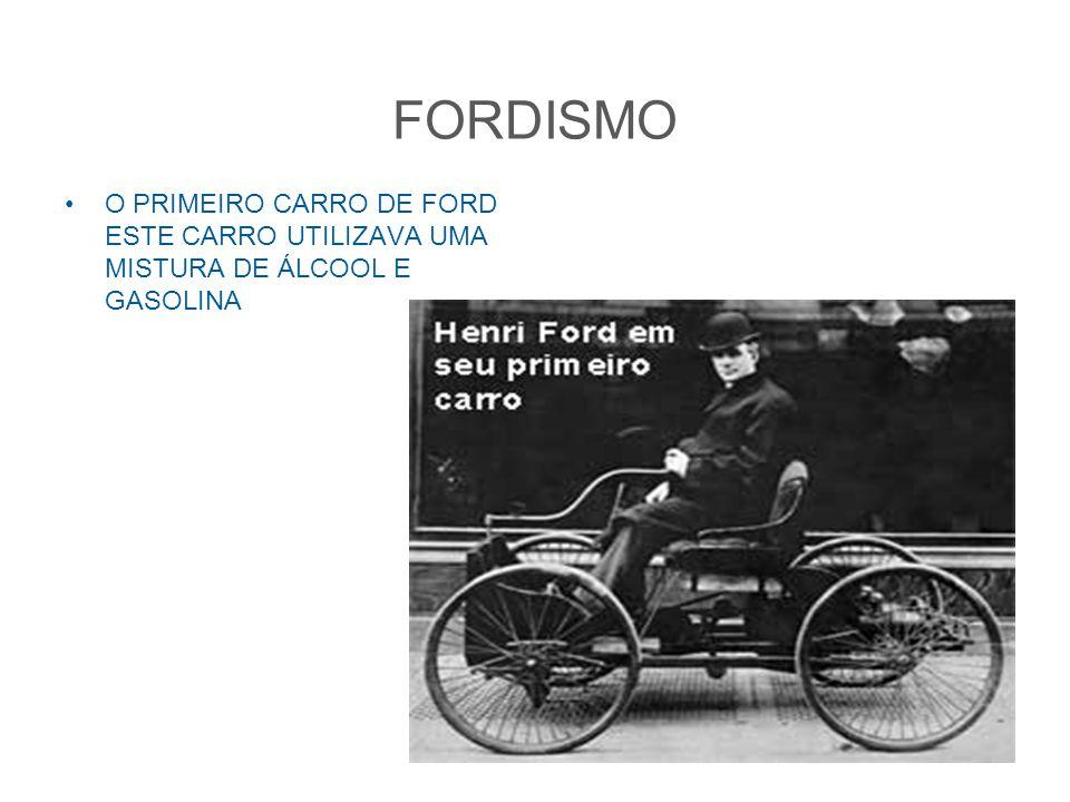 FORDISMO O PRIMEIRO CARRO DE FORD ESTE CARRO UTILIZAVA UMA MISTURA DE ÁLCOOL E GASOLINA