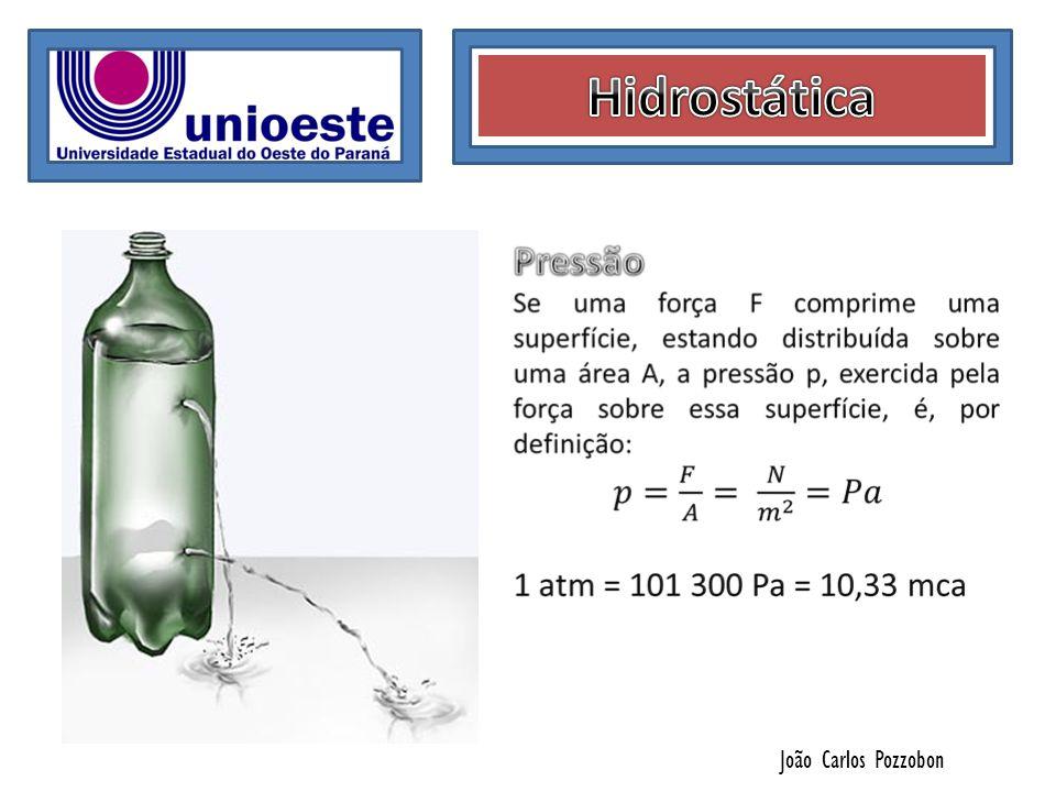 João Carlos Pozzobon Um tubo em U, com diâmetro uniforme, contém mercúrio, cuja massa específica igual a 13,6 g/cm3.