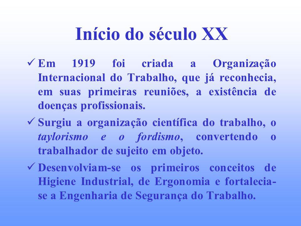 Início do século XX A expansão e consolidação do modelo iniciado com a revolução industrial e com a transnacionalização da economia, faz surgir a nece