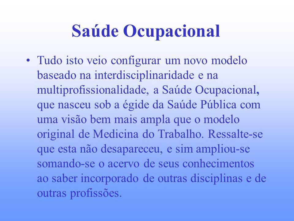 Início do século XX Em 1919 foi criada a Organização Internacional do Trabalho, que já reconhecia, em suas primeiras reuniões, a existência de doenças profissionais.