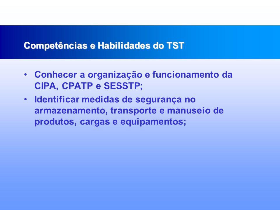 Identificar a necessidade de sinalização nos ambientes de trabalho; Reconhecer a importância do uso de equipamentos de proteção individual e coletiva; Analisar e estabelecer critérios para a escolha de equipamentos de proteção individual; Competências e Habilidades do TST