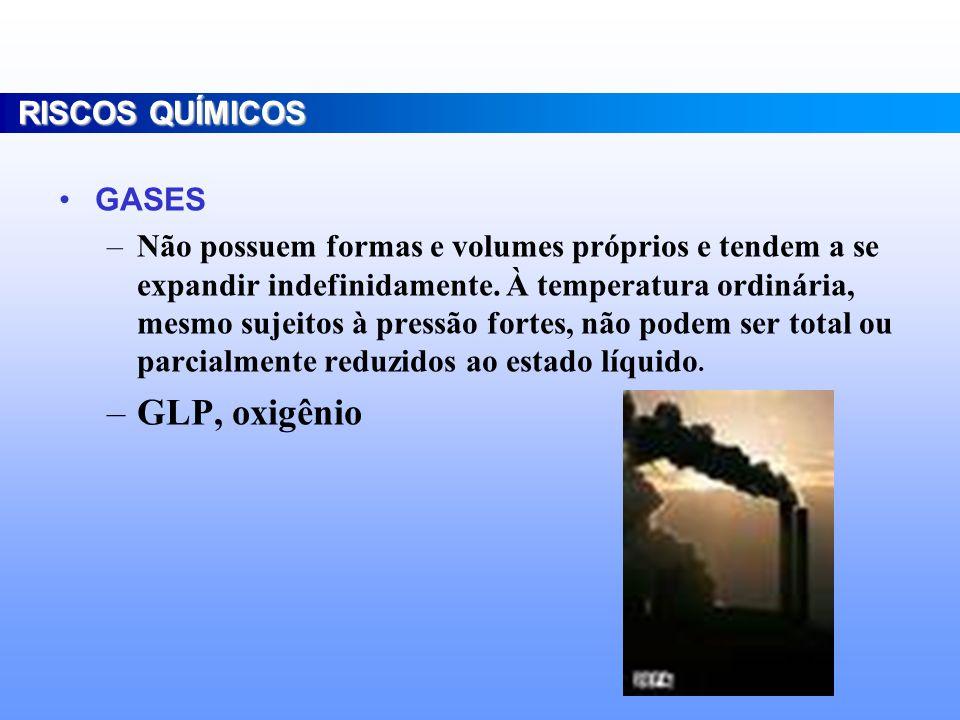 VAPORES –São substâncias que se encontram no estado gasoso como resultado de algum tipo de alteração no seu estado normal e temperatura ambiente.