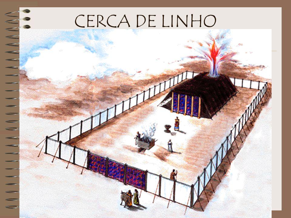 O Tabernáculo era uma tenda portátil com uma armação de madeira, para dar estabilidade. O santuário inteiro consistia em três partes: 1. um átrio exte
