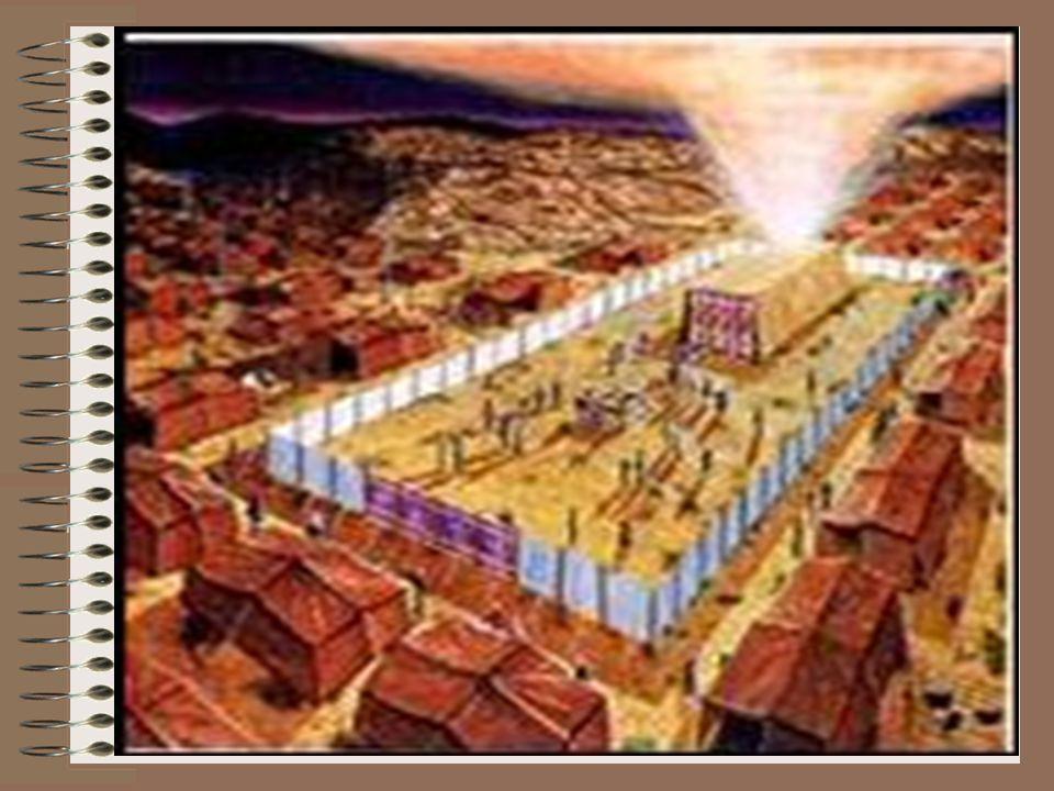 O Santo dos Santos Vamos agora para o Santo dos Santos, um pequeno cômodo de 10 cúbitos x 10 cúbitos (5 x 5m) separado do Santo Lugar pelo véu.