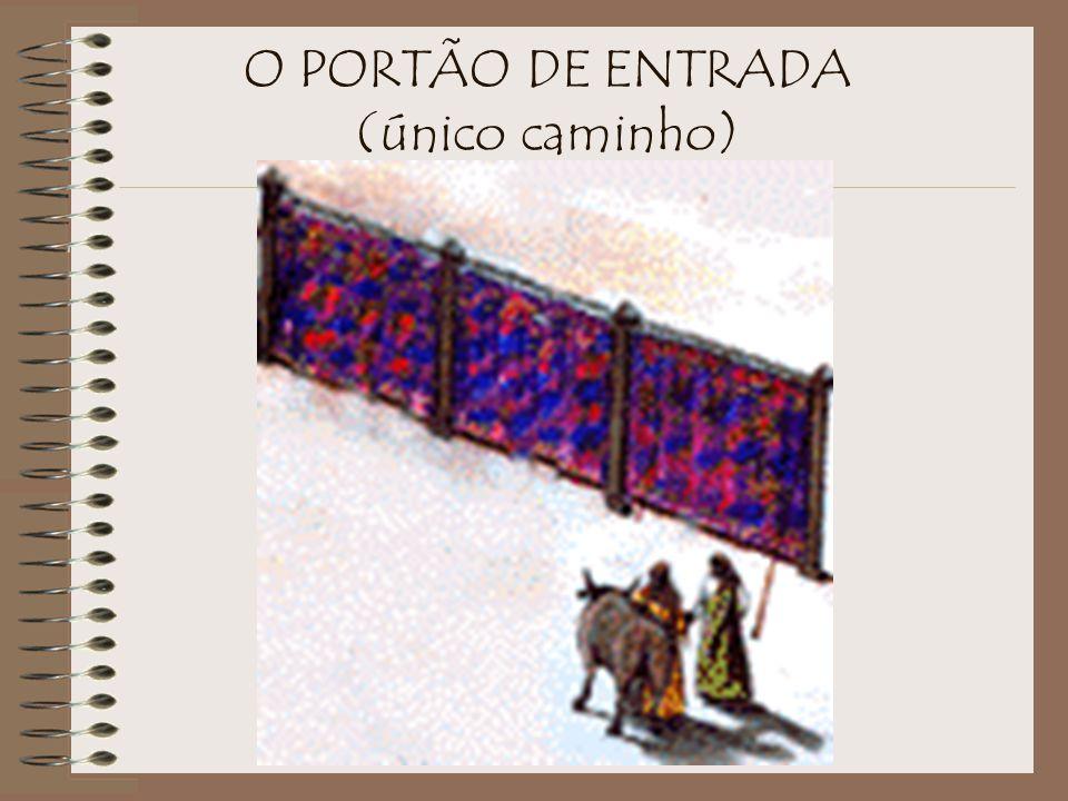 O átrio exterior era composto de cortinas volumosas de 5 cúbitos (2,25 metros) de altura. 'Linho Branco e Fino' A cerca de linho branco e fino nos fal