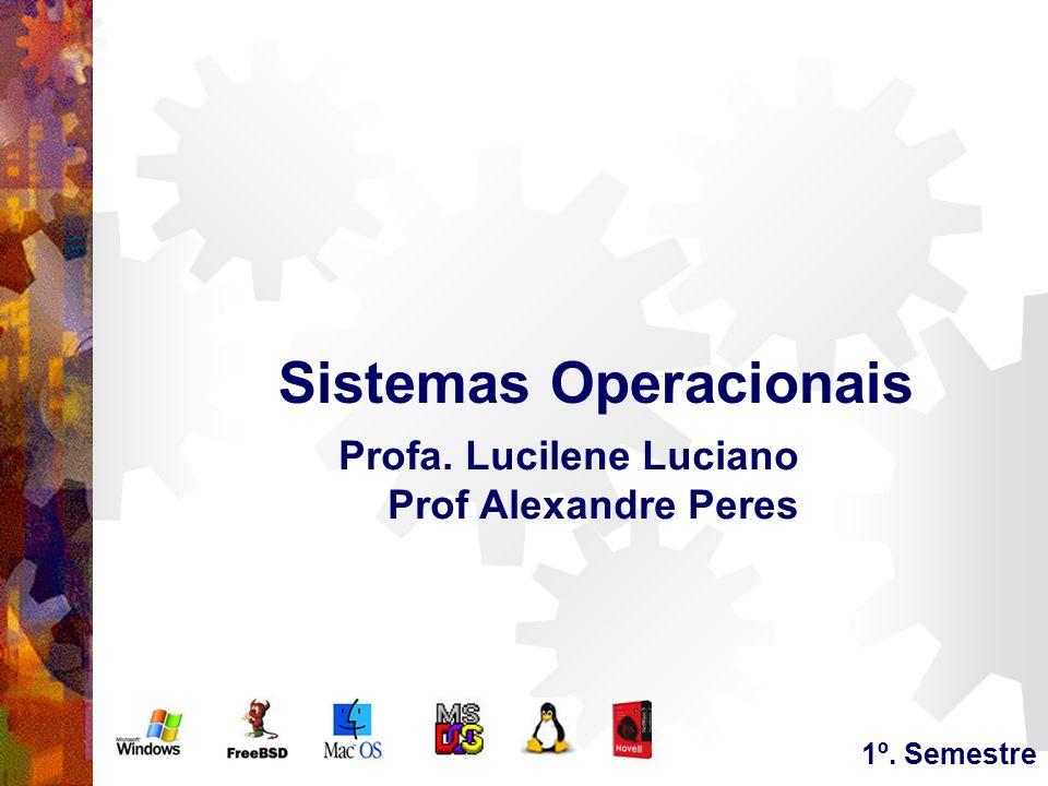 Sistemas Operacionais Profa. Lucilene Luciano Prof Alexandre Peres 1º. Semestre