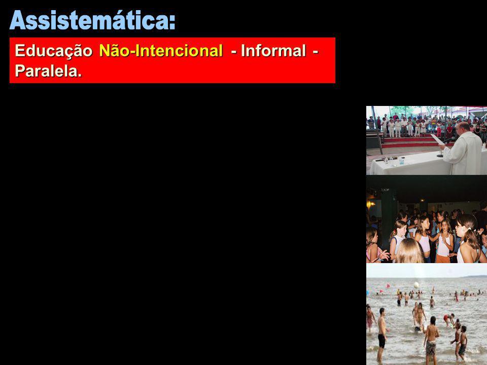 Educação Não-Intencional - Informal - Paralela.