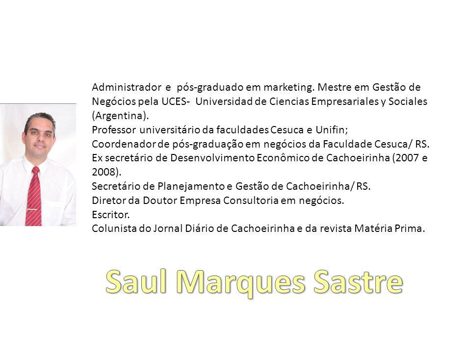 Administrador e pós-graduado em marketing.