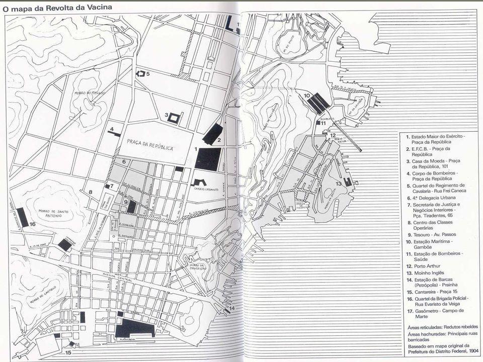 REVOLTA DA VACINA 10.nov.1904: motim no largo de São Francisco - confrontos entre manifestantes e cavalaria Morra a polícia.
