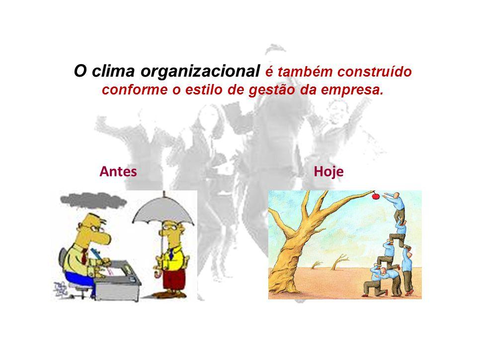 AntesHoje O clima organizacional é também construído conforme o estilo de gestão da empresa.