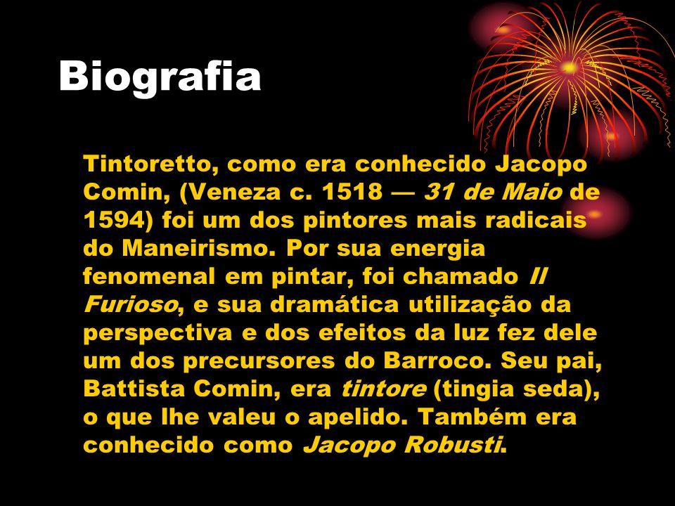 Biografia Tintoretto, como era conhecido Jacopo Comin, (Veneza c.