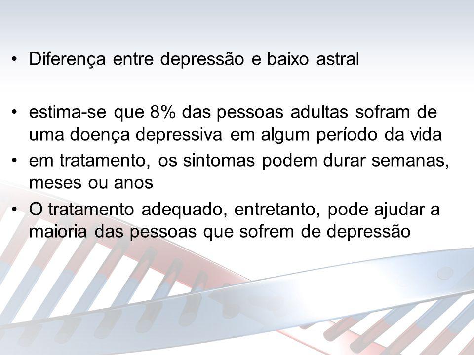 Do ponto de vista psicopatológico,as síndromes depressivas tem como elemento mais salientes o humor triste e o desânimo (Del Pino, 2003)