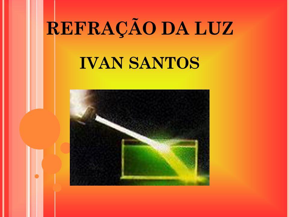 REFRAÇÃO DA LUZ IVAN SANTOS