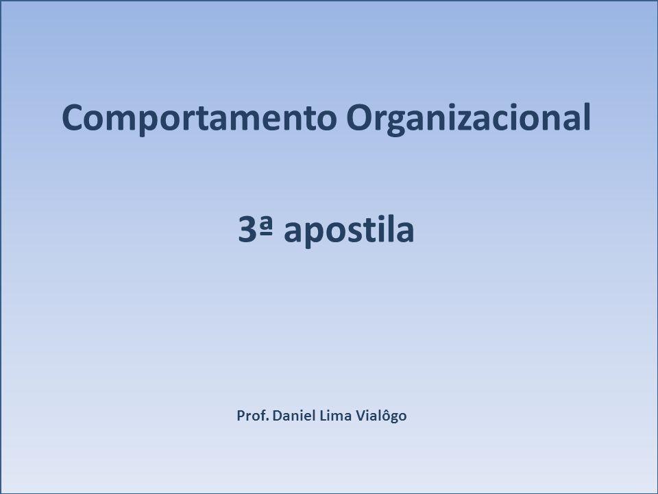 Comportamento Organizacional 3ª apostila Prof. Daniel Lima Vialôgo
