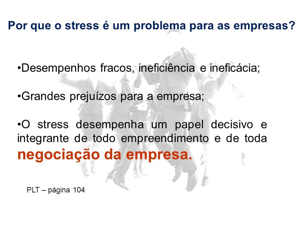Por que o stress é um problema para as empresas.
