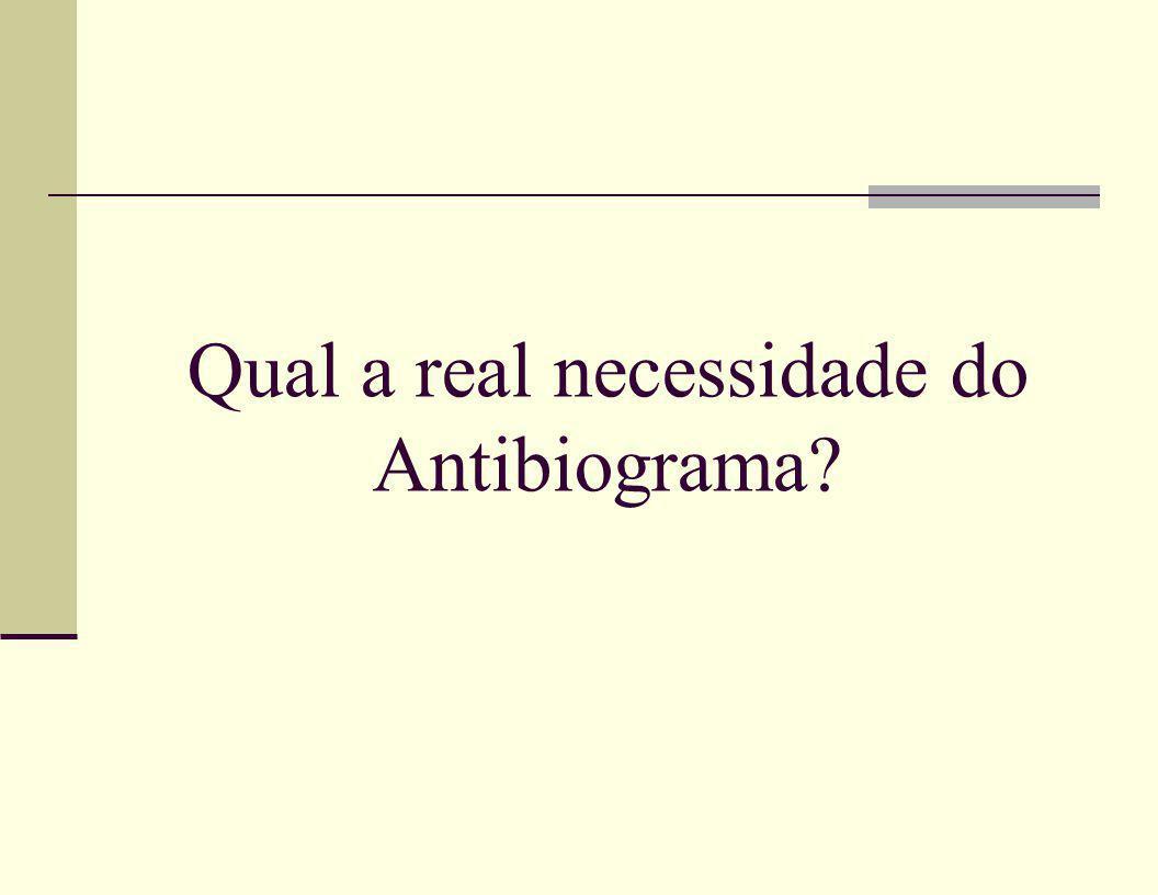 Qual a real necessidade do Antibiograma?