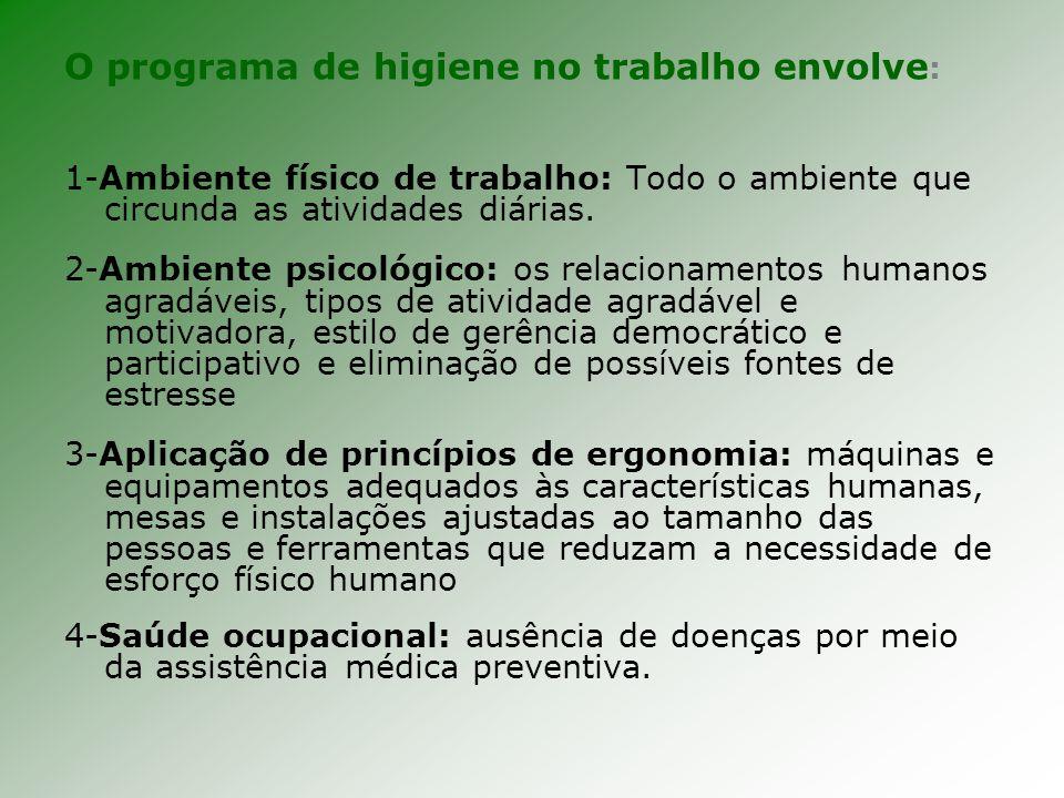 Segurança do trabalho Conjunto de normas técnicas, educacionais, médicas e psicológicas usadas para prevenir acidentes, seja instruindo/convencendo pessoas da implementação de práticas preventivas (Chiavenato,1999).