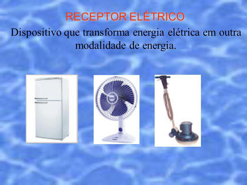 RECEPTOR ELÉTRICO Dispositivo que transforma energia elétrica em outra modalidade de energia.