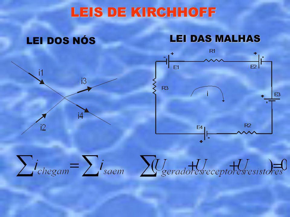 LEIS DE KIRCHHOFF LEI DOS NÓS LEI DAS MALHAS
