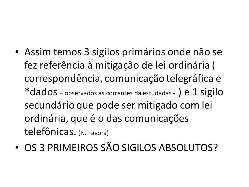 QUEBRA DE SIGILO TELEFÔNICO É o acesso a relação das ligações telefônicas efetuadas e recebidas (dias, horários, duração da ligação).
