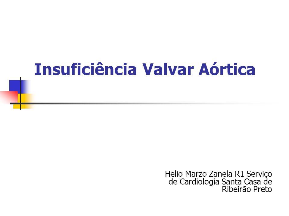 Insuficiência Valvar Aórtica Helio Marzo Zanela R1 Serviço de Cardiologia Santa Casa de Ribeirão Preto