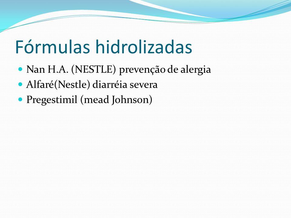 Fórmulas hidrolizadas Nan H.A.