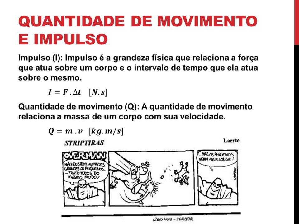 QUANTIDADE DE MOVIMENTO E IMPULSO