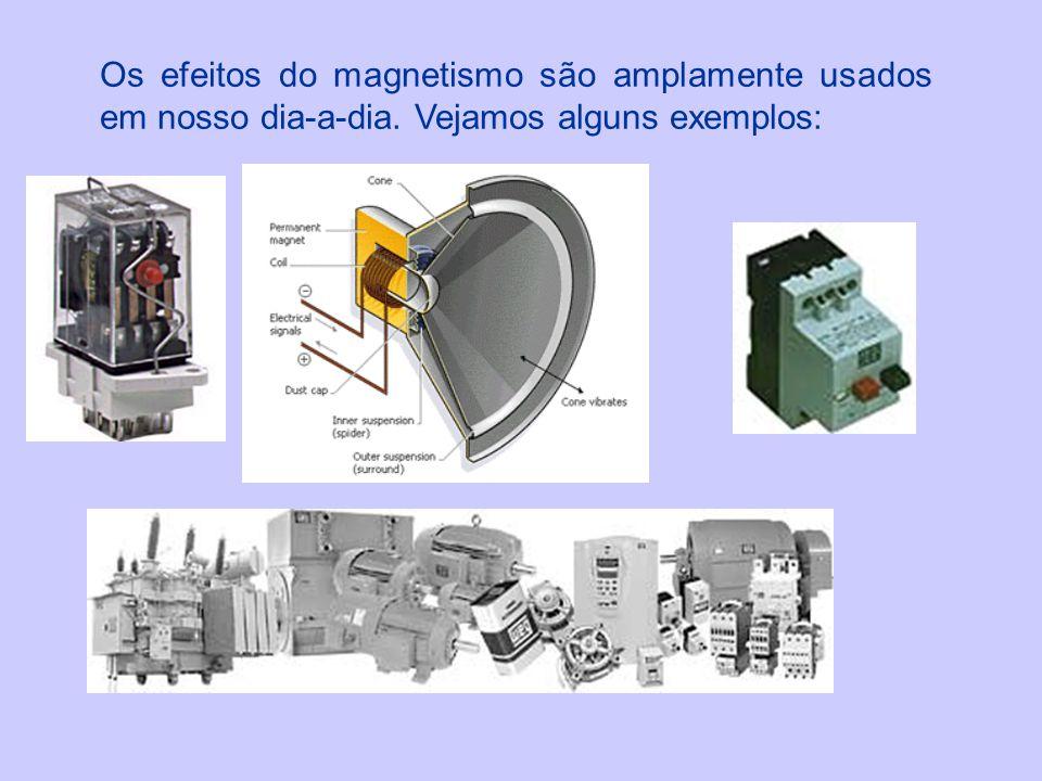 Os efeitos do magnetismo são amplamente usados em nosso dia-a-dia. Vejamos alguns exemplos: