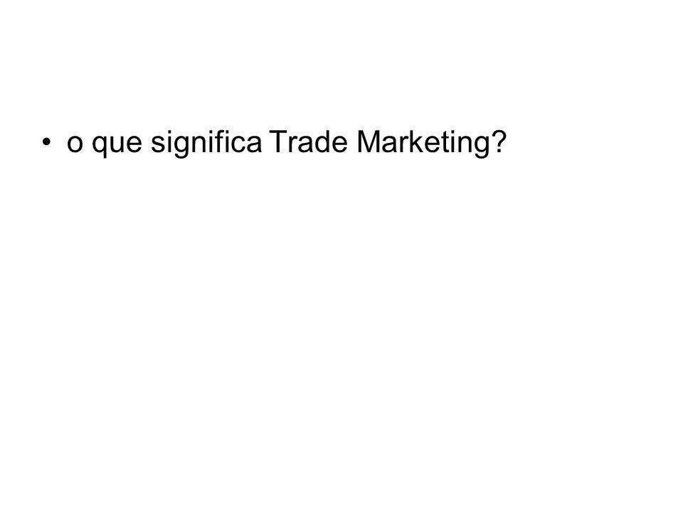 Trade Marketing é um conceito que poderia ser traduzido por marketing para o negócio do varejo;